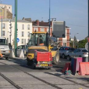 Le chantier du tramway