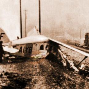 L'avion de Costes capote à Noisy-le-Sec, 20 février 1929