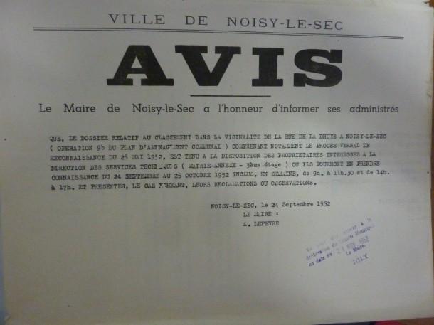 1952 avis