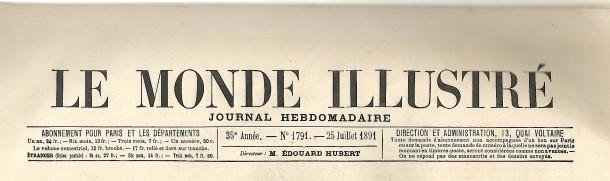 1891 Le  monde illustré