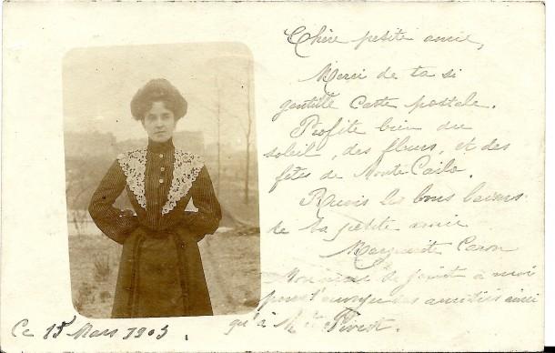 1903 mars correspondance