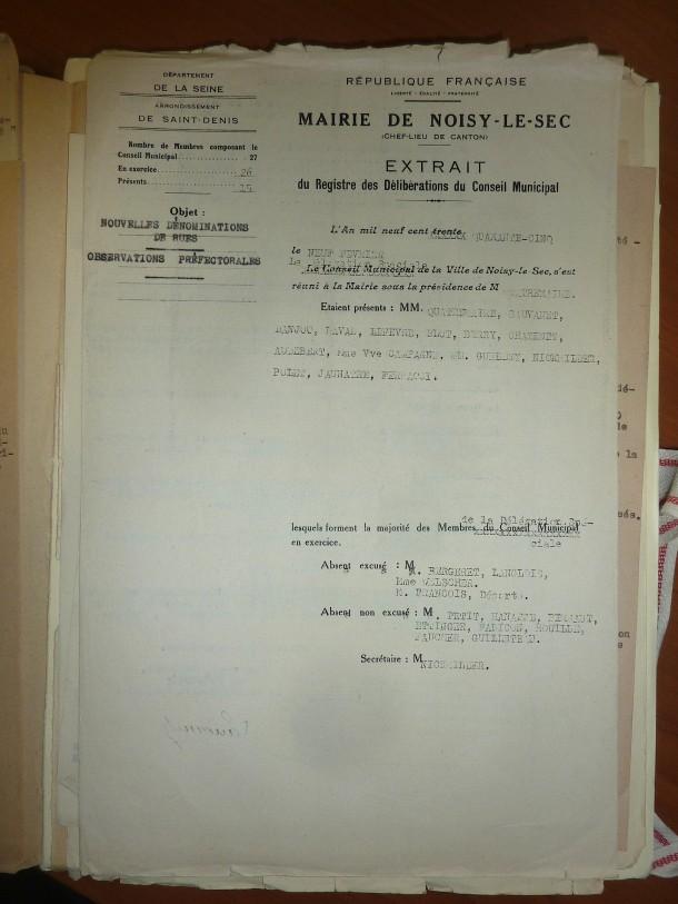 1945 20 mars nom de rue 2