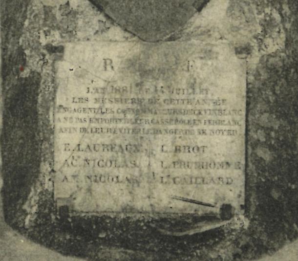 1881 plaque