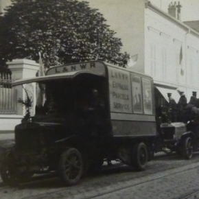 Septembre 1914, convois anglais allant sur Paris