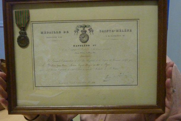 Le diplôme de Jean-Pierre Budor toujours en possession de sa famille.