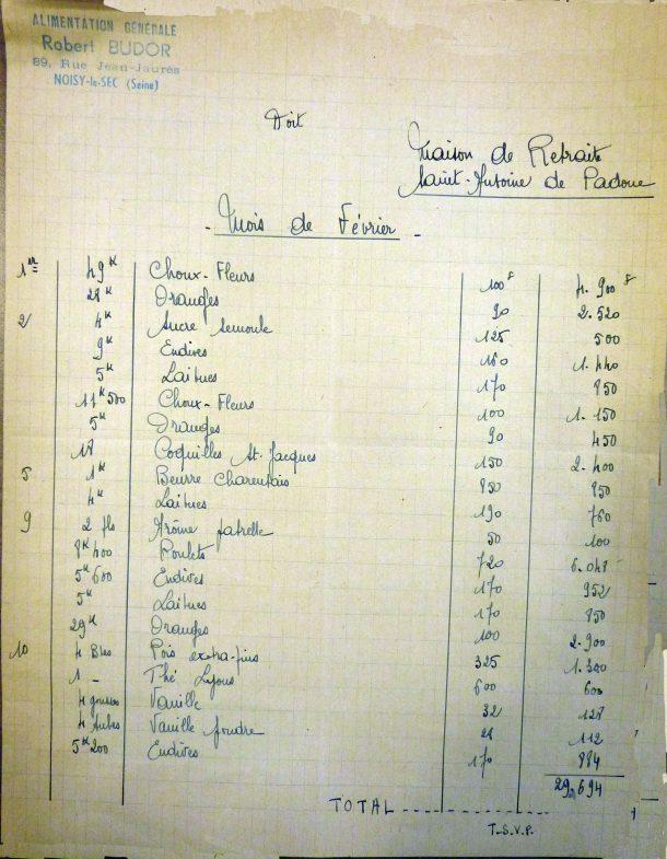 1942 facture Robert Budor