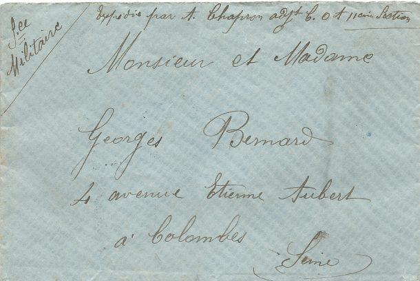 1914 A Chapron enveloppe
