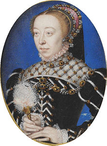 portrait de Catherine de Médicis vers 1555
