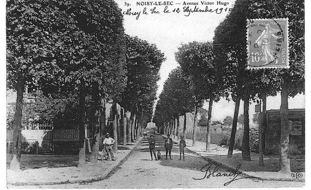avenue Victor Hugo, vue depuis le rond point de Merlan