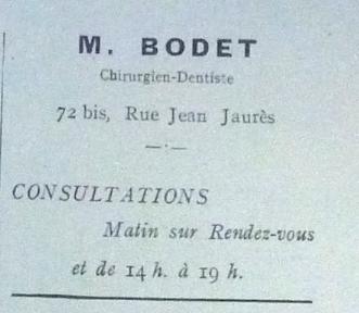 n°72bis Bodet dentiste