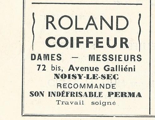 1938 Roland coiffeur