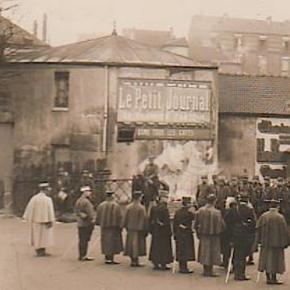 30 octobre 1914, le Président Raymond Poincaré est à Noisy-le-Sec