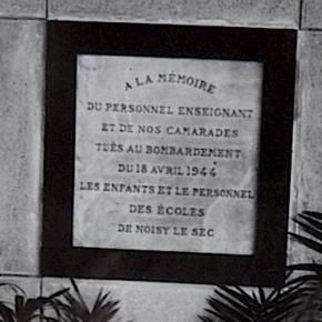 14 avril 1946, première commémoration du bombardement de 1944