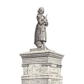 La place Jeanne d'Arc, autour d'une statue