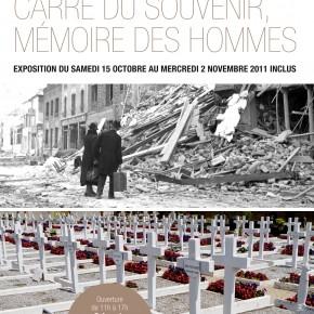 Nouveau cimetière : Carré du Souvenir, mémoire des hommes.