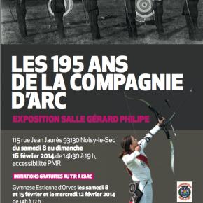 """Exposition """"Les 195 ans de la Compagnie d'Arc"""""""
