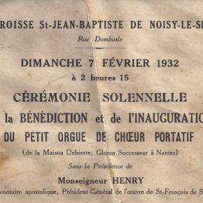 1932, un orgue pour Saint Jean-Baptiste
