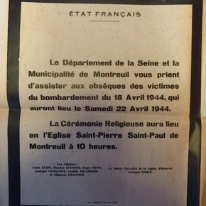 18 avril 1944 dommages collatéraux, Montreuil